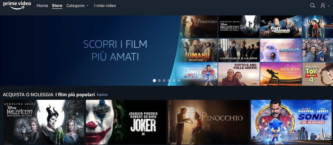 Prime Video Store in Italia: online il portale per l'acquisto o noleggio di film